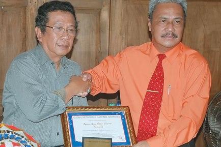 sertifikat unesco gunungkidul di goa jomblang